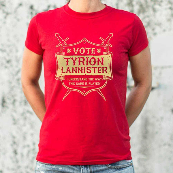 Vote Tyrion Lannister T-Shirt | Women's Short Sleeve Top - The Updated Ones