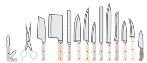 Mail-in Kitchen Knife Sharpening Service