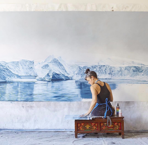 Hyper-realistic pastel paintings with a social conscience - specifically focusing on the environment - are presented by Zaria Lynn, via designmilk.