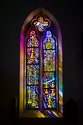 Church Colorful Stained Glass Window
