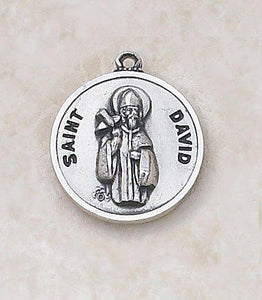 "St. David Medal Pendant with Chain - 20"" L"