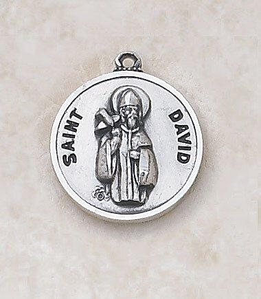 St. David Medal Pendant with Chain - 20