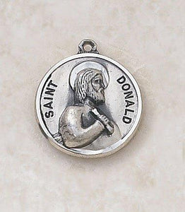 "St. Donald Medal Pendant with Chain - 20"" L"