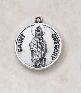 "St. Gregory Medal Pendant with Chain - 20"" L"
