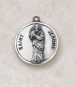 "St. Jerome Medal Pendant with Chain - 20"" L"