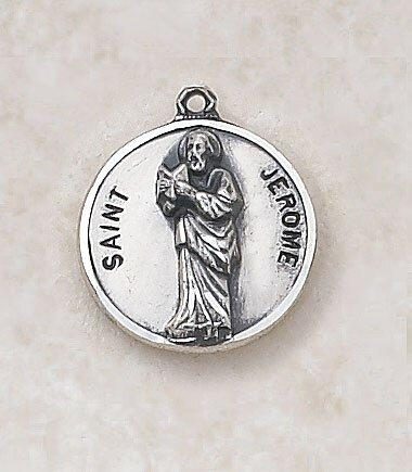 St. Jerome Medal Pendant with Chain - 20