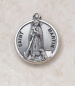 "St. Martin Medal Pendant with Chain - 20"" L"