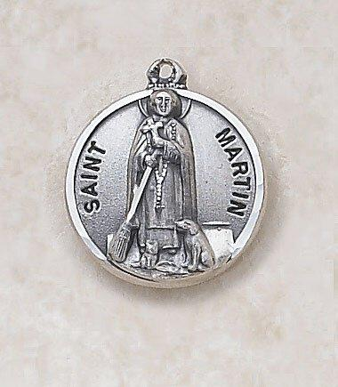 St. Martin Medal Pendant with Chain - 20