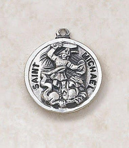 "St. Michael Medal Pendant with Chain - 20"" L"
