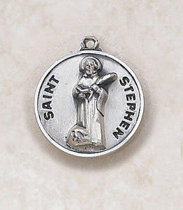 "St. Stephen Medal Pendant with Chain - 20"" L"