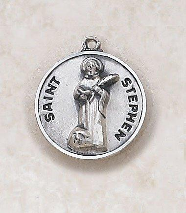 St. Stephen Medal Pendant with Chain - 20