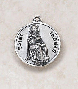 "St. Thomas Medal Pendant with Chain - 20"" L"