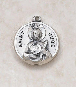 "St. Jude Medal Pendant with Chain - 20"" L"