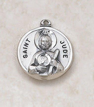 St. Jude Medal Pendant with Chain - 20