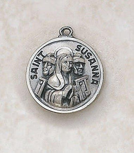 "St. Susanna Medal Pendant with Chain - 18"" L"