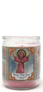Divine Baby Jesus 3.25 Inch Prayer Candle - Front