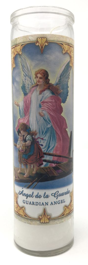 Guardian Angel Prayer Candle - Front