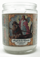 Load image into Gallery viewer, Guardian Angel Prayer Candle 3.25 Inch - Front