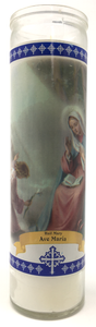 Hail Mary Prayer Candle - Front