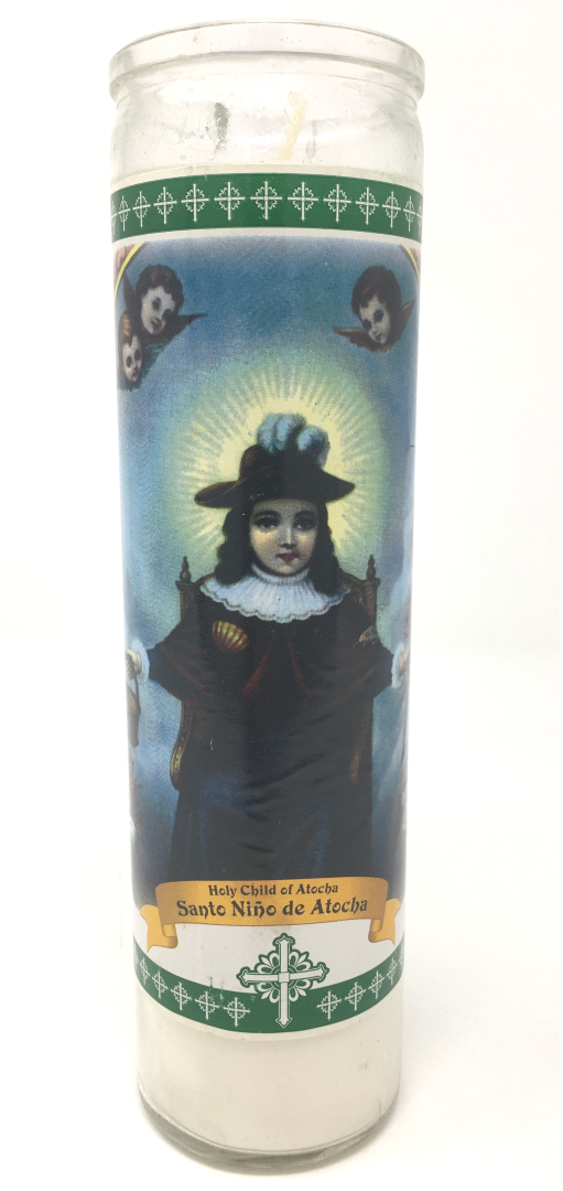 Holy Child Of Atocha Prayer Candle - Front