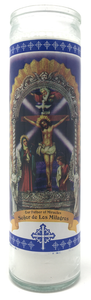 Our Father of Miracles Prayer Candle - Front