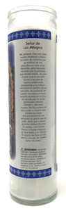 Our Father of Miracles Prayer Candle - Spanish Prayer