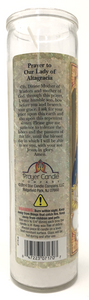 Our Lady of Altagracia Prayer Candle - English Prayer