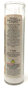 Our Lady of Altagracia Prayer Candle - Spanish Prayer