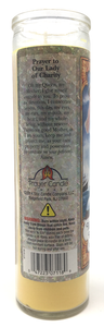 Our Lady of Charity Prayer Candle - English Prayer