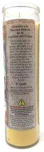 Our Lady of Charity Prayer Candle - Spanish Prayer