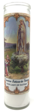 Load image into Gallery viewer, Our Lady of Fatima Prayer Candle - Front