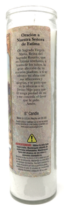 Our Lady of Fatima Prayer Candle - Spanish Prayer