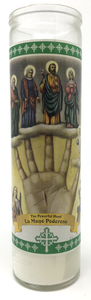Powerful Hand Prayer Candle - Front