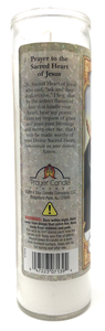 Sacred Heart of Jesus Prayer Candle - English Prayer