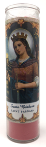 Saint Barbara Prayer Candle - Front