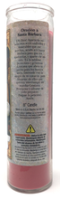Load image into Gallery viewer, Saint Barbara Prayer Candle - Spanish Prayer