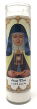 Load image into Gallery viewer, Saint Clara Prayer Candle - Front