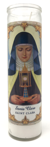 Saint Clara Prayer Candle - Front