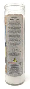 Saint Clara Prayer Candle - Spanish Prayer