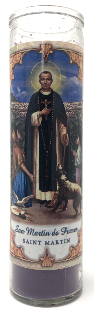 Saint Martin Prayer Candle - Front