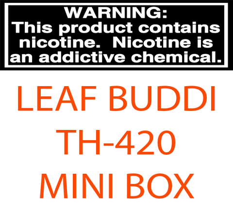 LEAF BUDDI TH-420 MINI BOX VARIABLE VOLTAGE 650MAH BOX MOD WITH 0.5ML CCELL CE3 CARTRIDGE