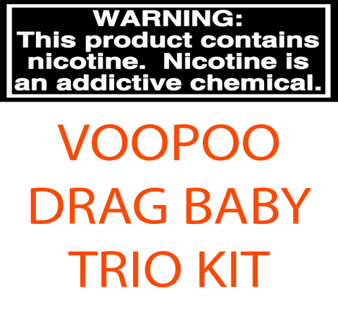 VOOPOO DRAG BABY TRIO 1500MAH RESIN EDITION REFILLABLE 1.8ML STARTER KIT