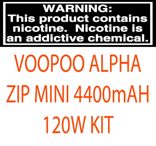 VOOPOO ALPHA ZIP MINI 4400MAH 120W STARTER KIT WITH 2ML/4ML MAAT TANK