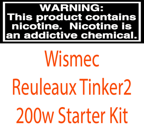 Wismec Reuleaux Tinker2 200W TC Starter Kit With 6.5ML Trough Tank