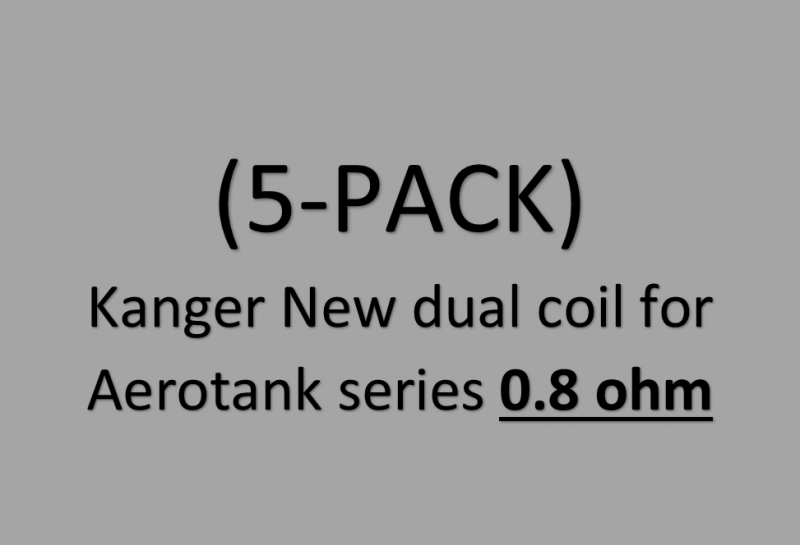 Kanger New dual coil for Aerotank series .08 ohm (5-PACK)