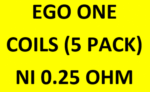 EGO ONE COIL (5 PACK) 0.25 Ni WORD