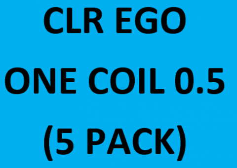 CLR EGO ONE COIL 0.5 (5 Pack) WORD