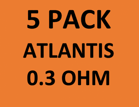 Atlantis Coils (5-Pack) 0.3 OHM