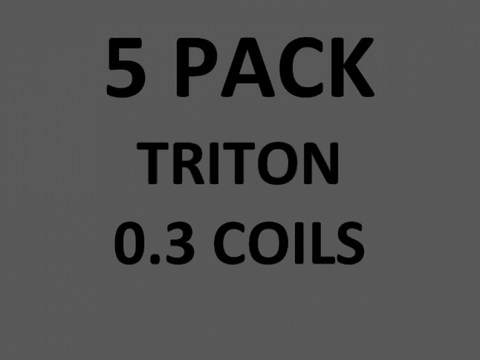 TRITON REPLACEMENT COIL 0.3 OHM (5 PACK)