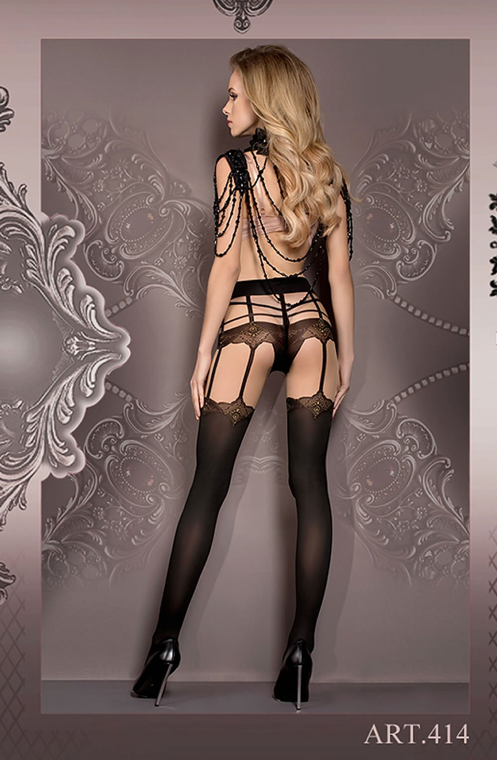 TIGHTS - SKIN/BLACK - BALLERINA 414 - AvecEnvie